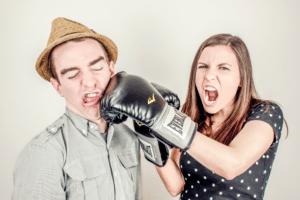 divorce couple fight