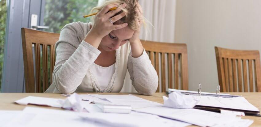 divorce financial stress