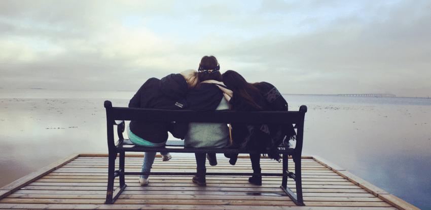 divorce support friends hug